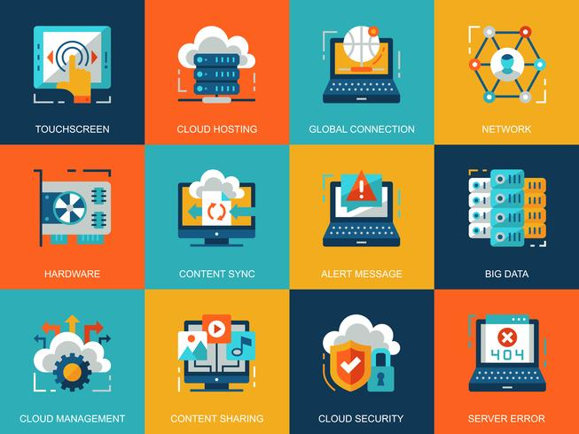 Cloud Technology Icon Set