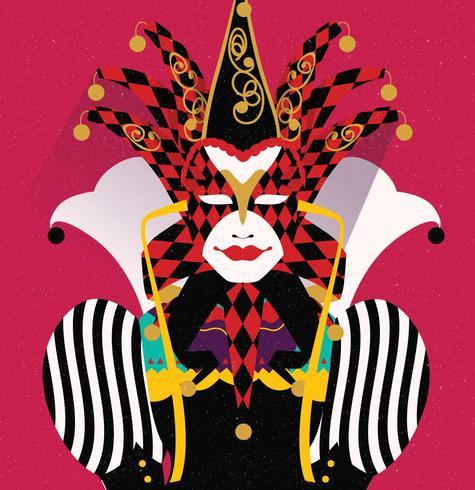 Joker de disfraces de Carnevale Di Venezia