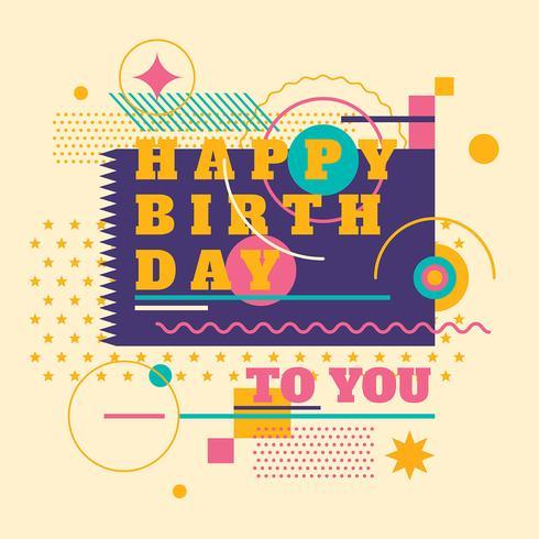 Tarjeta de invitación de cumpleaños feliz