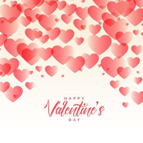 eleganta hjärtan mönster vackra valentines dag bakgrund