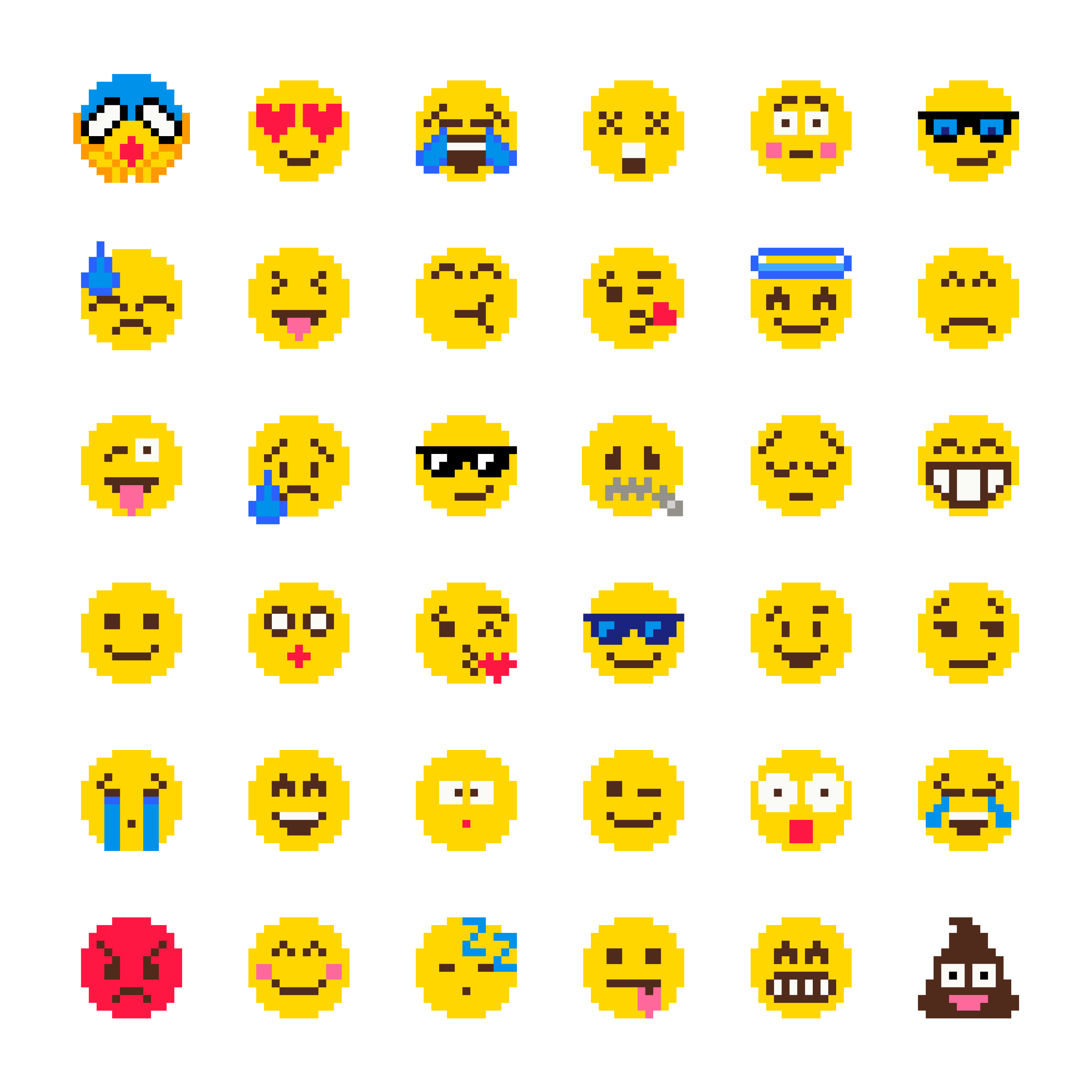 Pixel Emoji Vector Set - Download Free Vectors, Clipart ...Copy And Paste Symbols For Pixel Gun 3d
