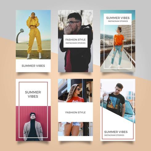 Modello moderno piano Instagram Stories Vector Template