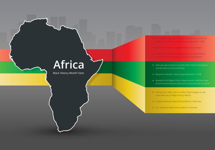 Black History Month Infographic Ilustration
