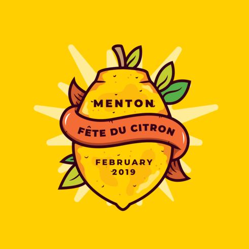 Frankreich Zitronenfestival Vektor