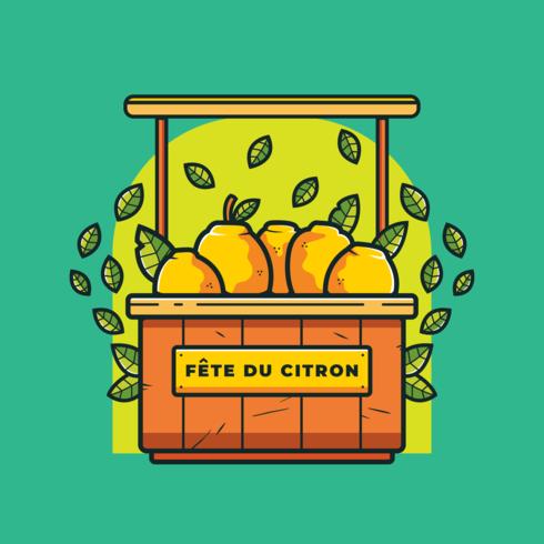 Festival de limón de Menton Francia Vector