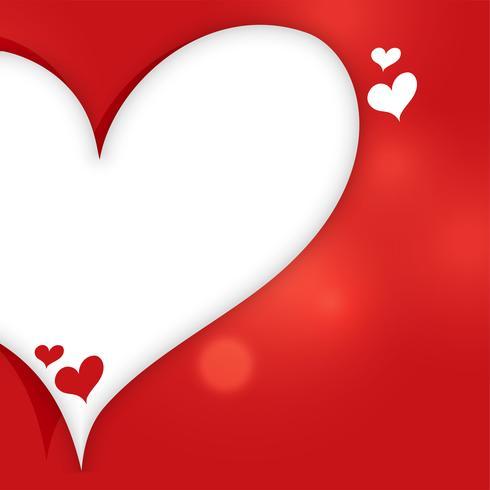 Herzfahne mit Textraumhintergrund