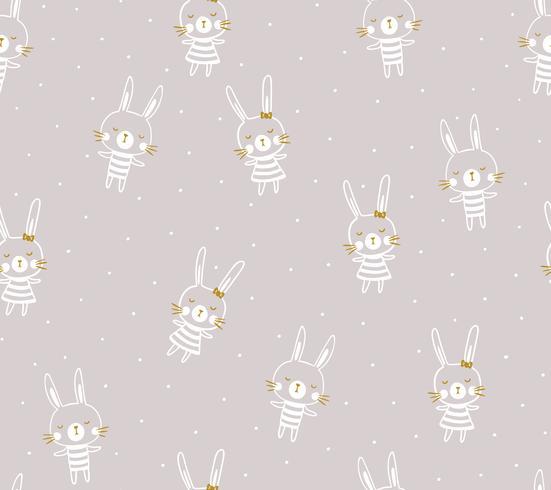 Progettazione senza cuciture del modello di Pasqua con i coniglietti