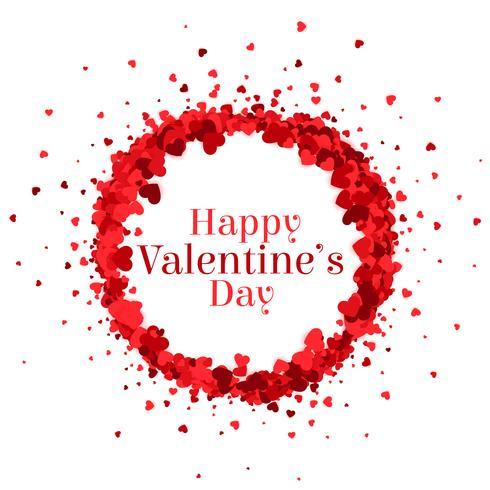 Fondo de marco de corazones de feliz día de San Valentín