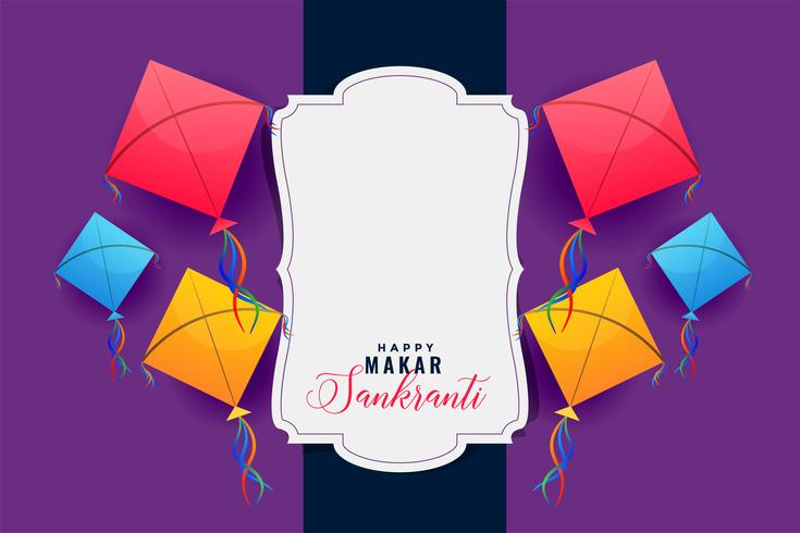 färgglada drakar ram för makar sankranti festival