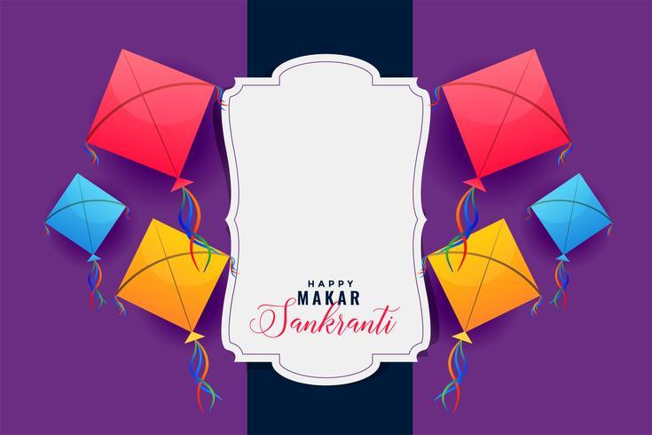 cornice colorata aquiloni per makar sankranti festival