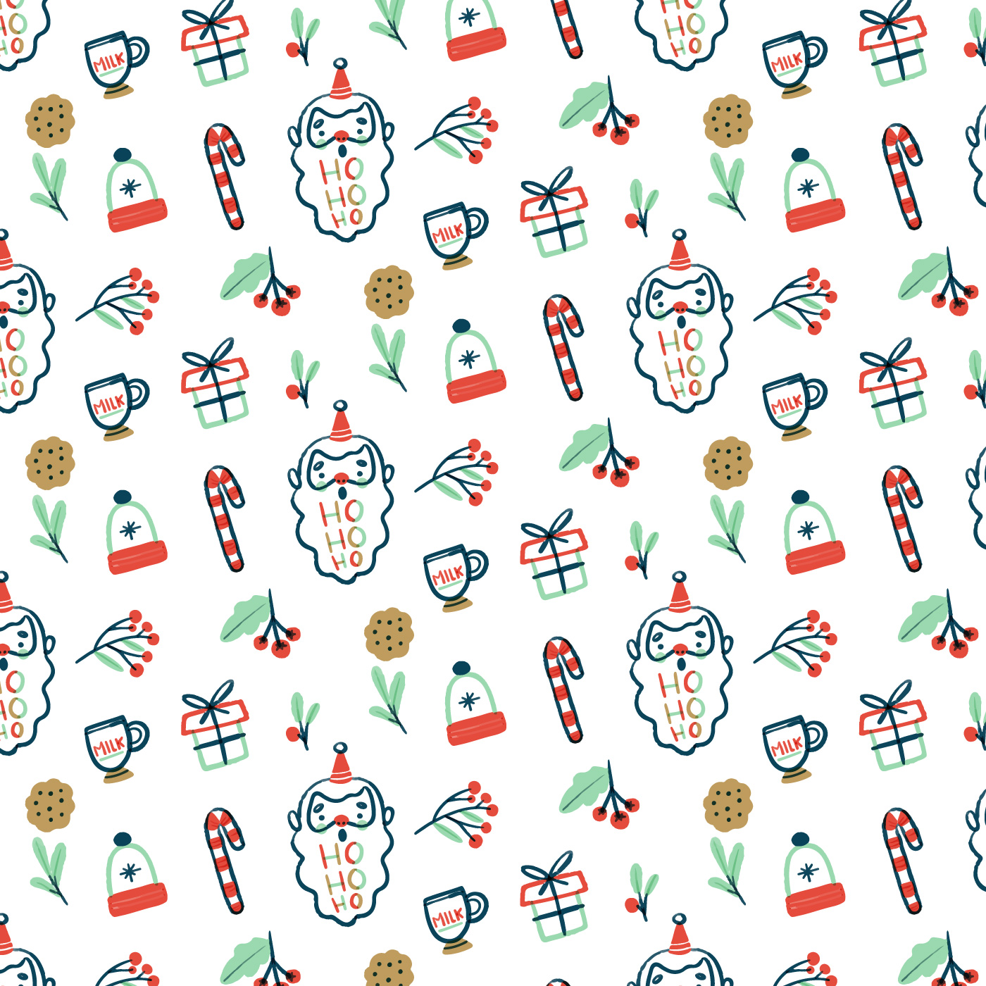 Candy Cane Pattern Free Vector Art - (26711 Free Downloads)