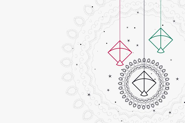 design de fond de décoration cerfs-volants suspendus