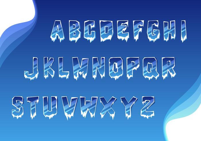 Vecteur simple alphabet glacé