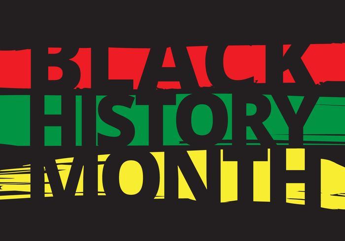 ilustration del mese nero di storia vettore