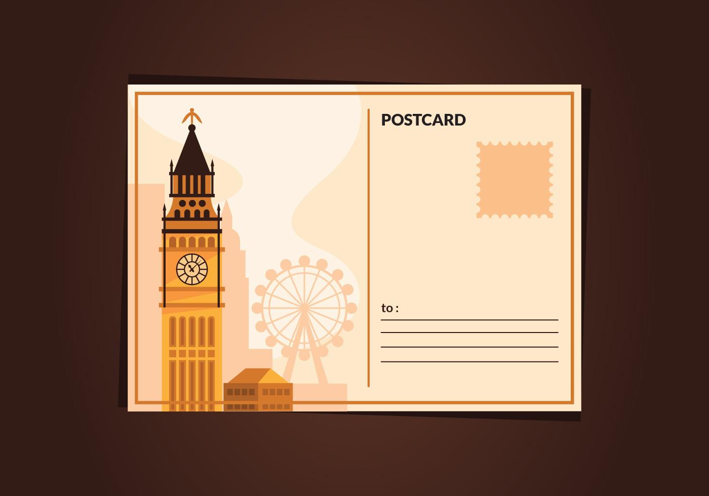 london vintage postcard