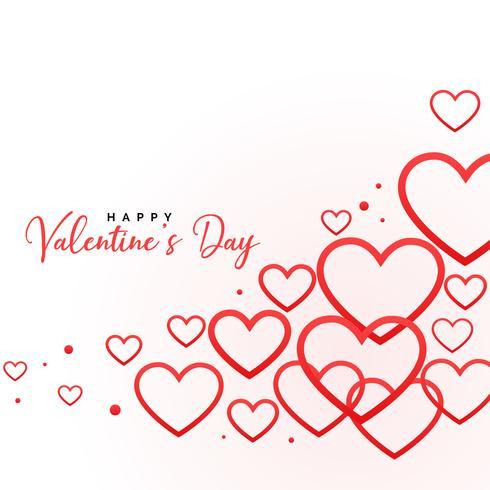 felice giorno di San Valentino sfondo cuori linea
