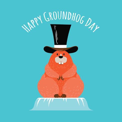 Groundhog Day met vrolijke marmot