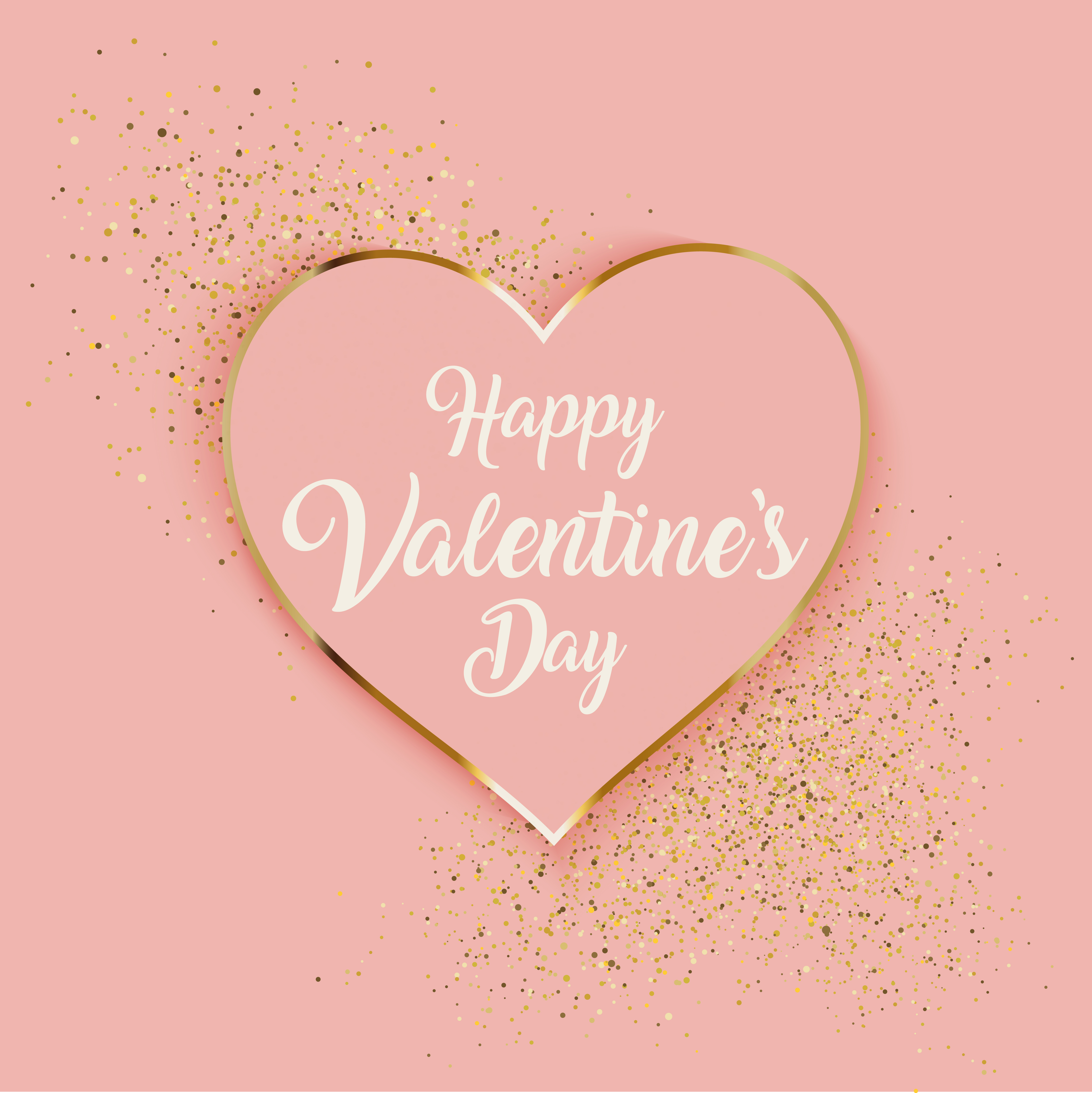 Valentine S Day Background With Heart And Gold Glitter Download Free Vectors Clipart Graphics Vector Art