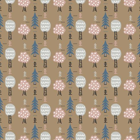 Winter Forest Vector Pattern