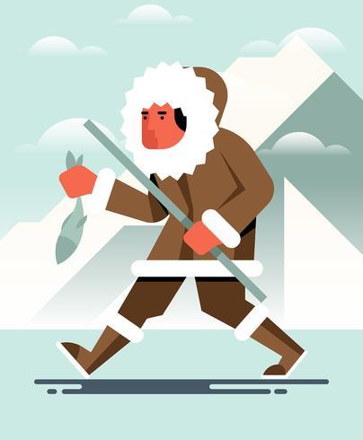 Eskimo's illustratie