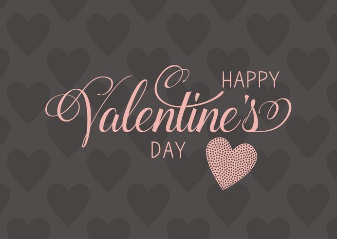 Decoratieve Happy Valentine's Day achtergrond vector