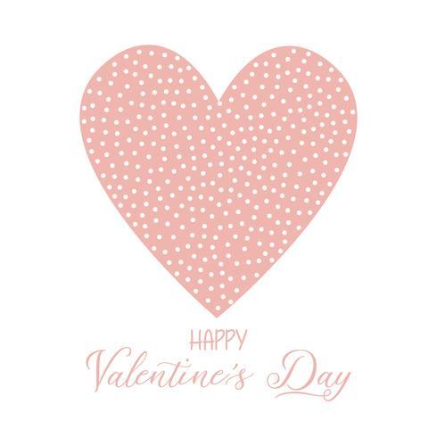 Valentin fond avec coeur tacheté