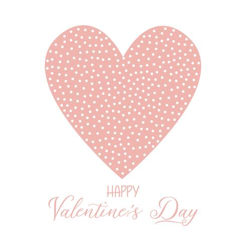 Fondo de San Valentín con corazón manchado.