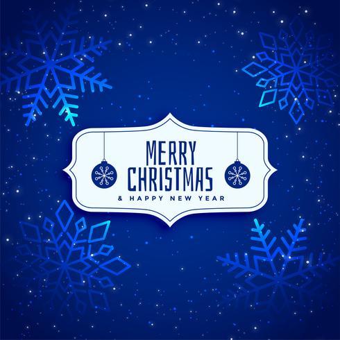 glänsande blå gnist jul bakgrund