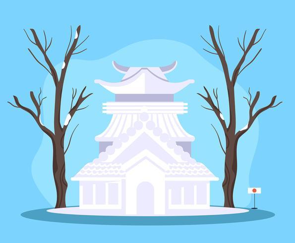 Festival de neige de Sapporo vecteur