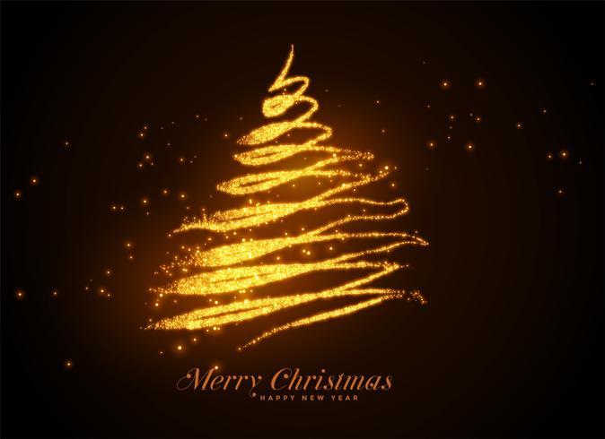 Fondo de Navidad hermoso árbol de destellos
