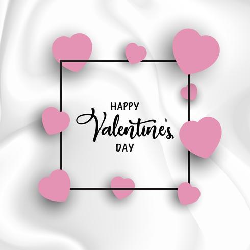 Fundo Dia dos Namorados com corações na textura de mármore