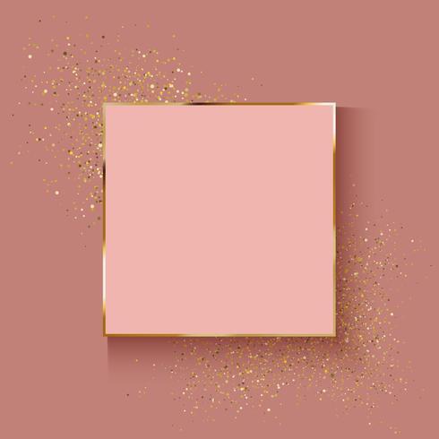 Fondo decorativo en oro rosa con efecto brillo.