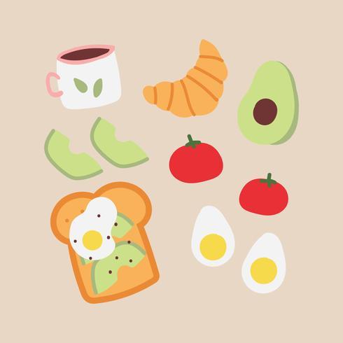 Kleurrijk Ontbijt Doodles