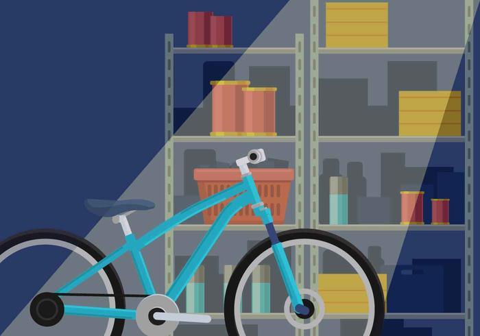Cykel i Garage Förvaring
