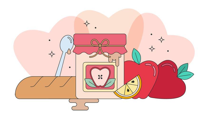 Vector de mermelada de manzana