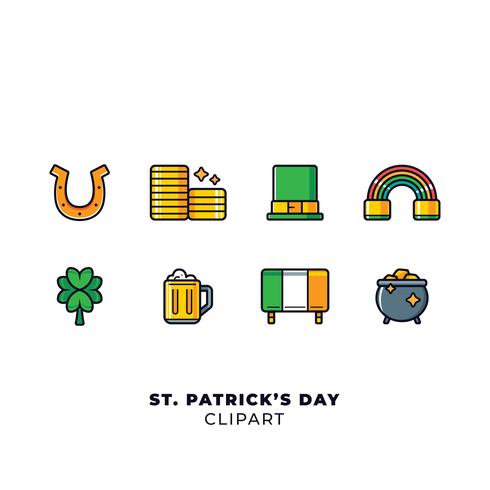 Set di elementi del giorno di San Patrizio