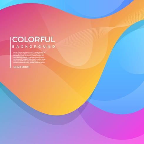 Platte geometrische kleurrijke vector achtergrond