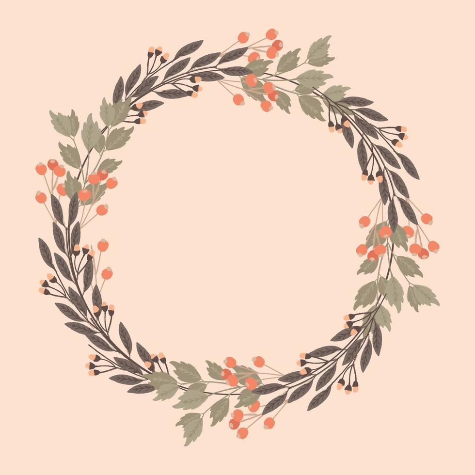 Vector decoratief bloemenframe