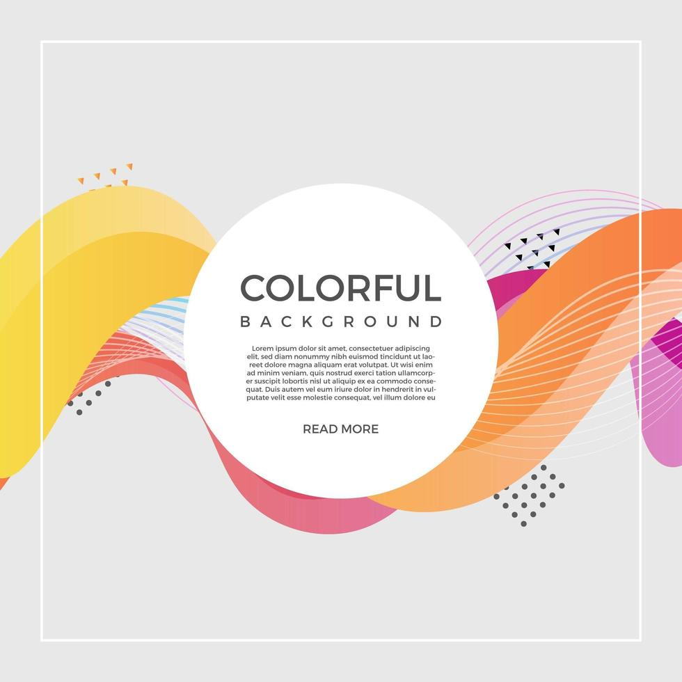 Flat Modern Colorful Vector Background