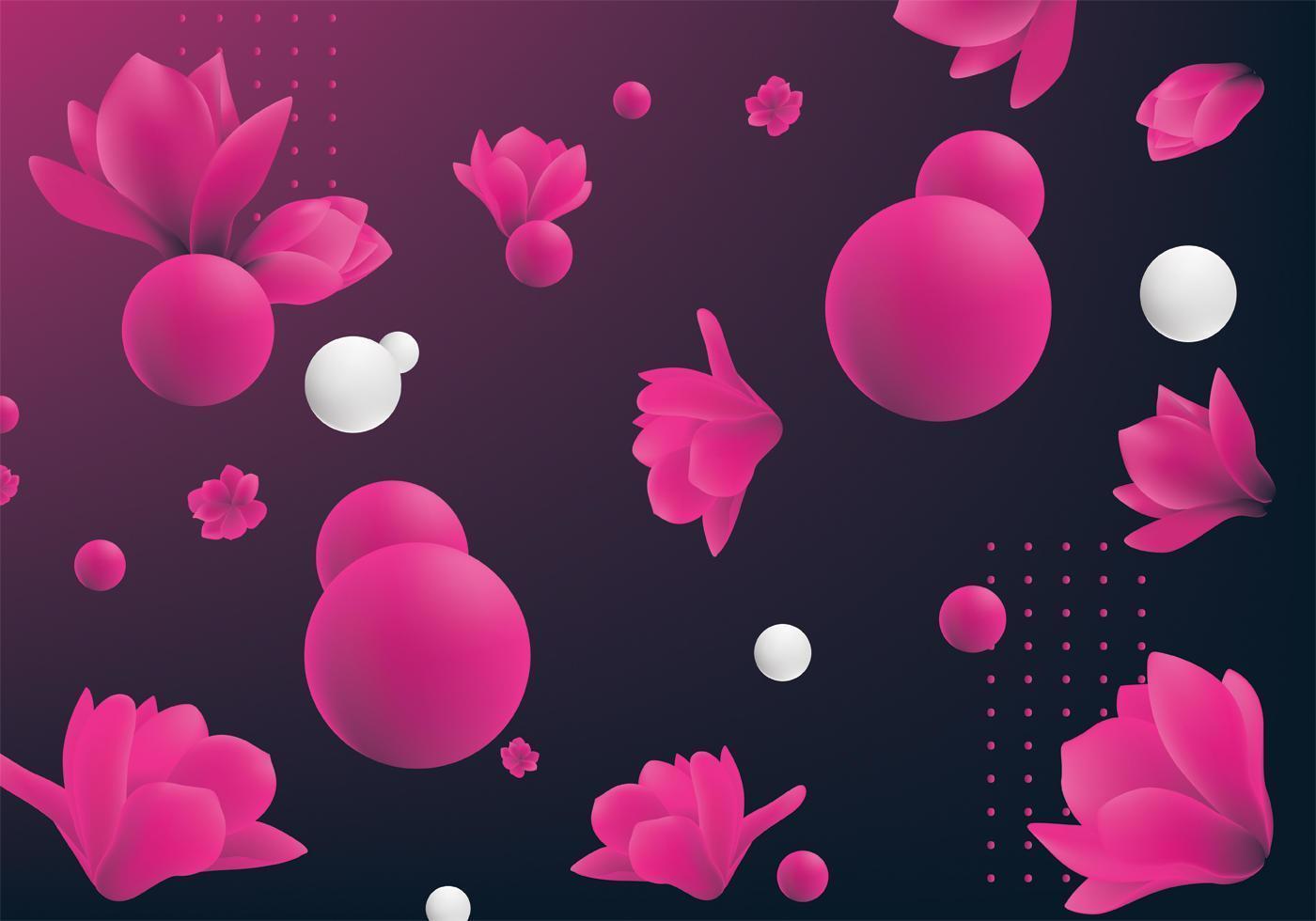 Projeto do vetor da flor 3d