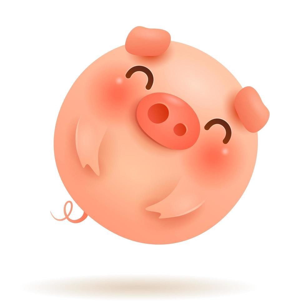 The Little Pig Flying Balloon vector