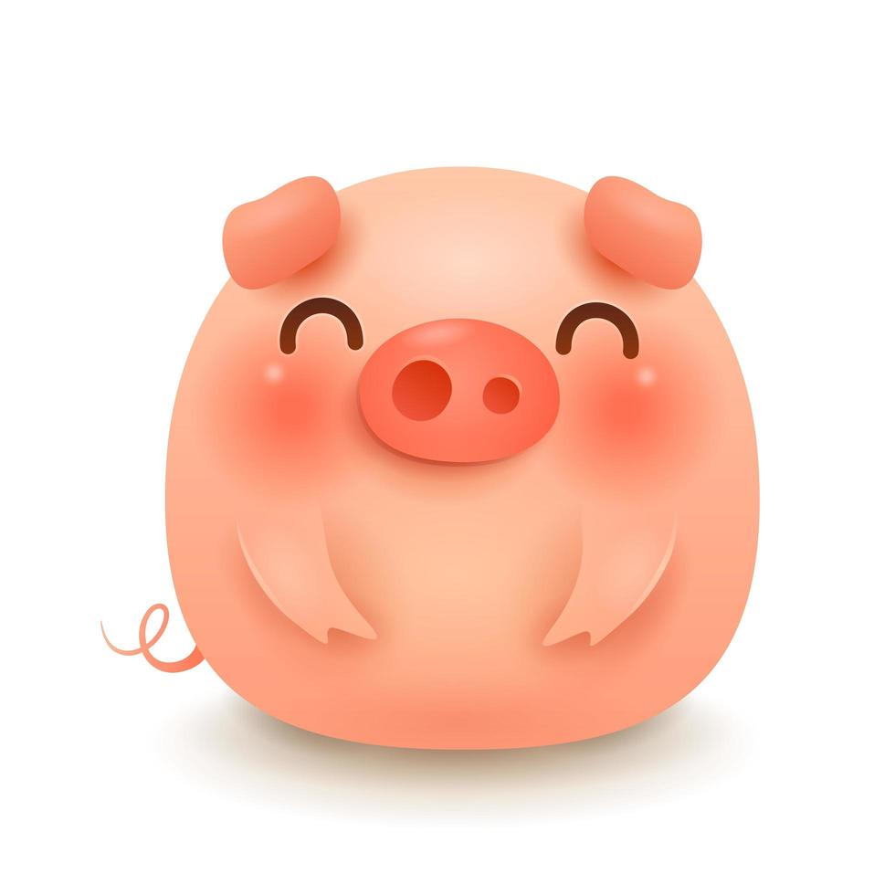 The Fat Little Pig vector