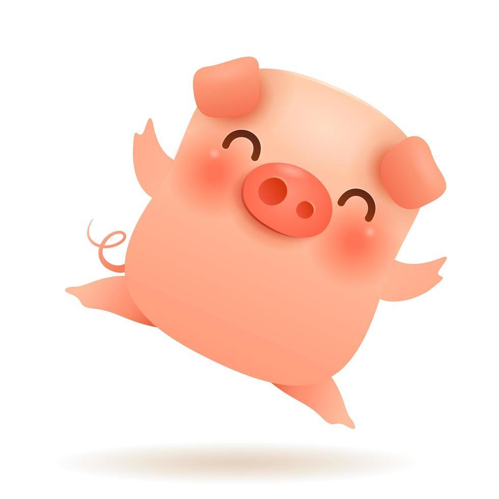 The Little Pig.  vetor