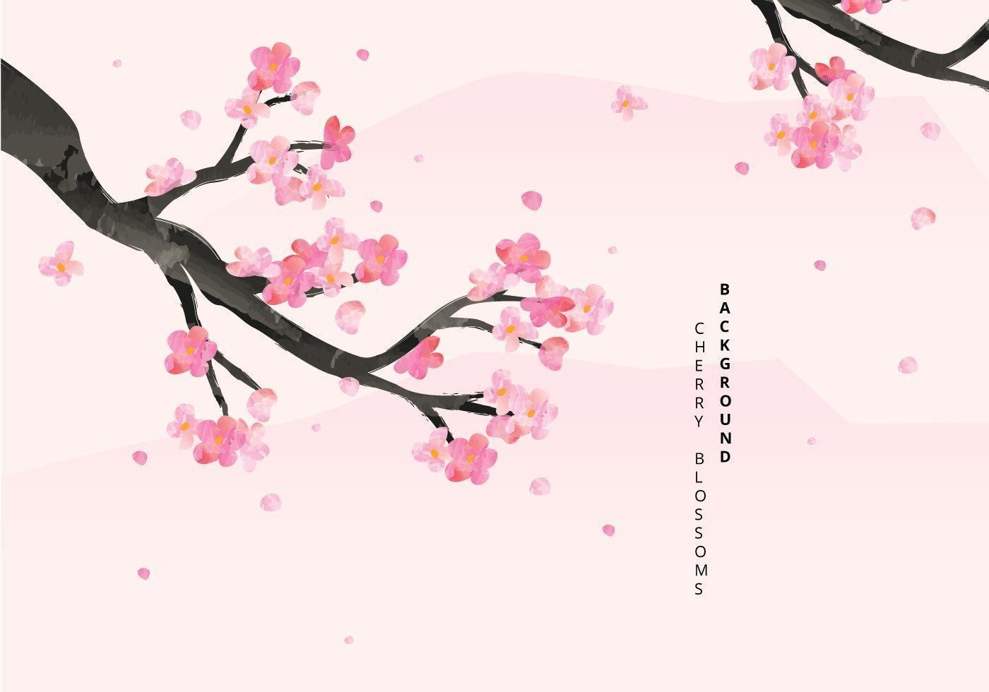 Cherry Blossoms Background Illustration vecteur