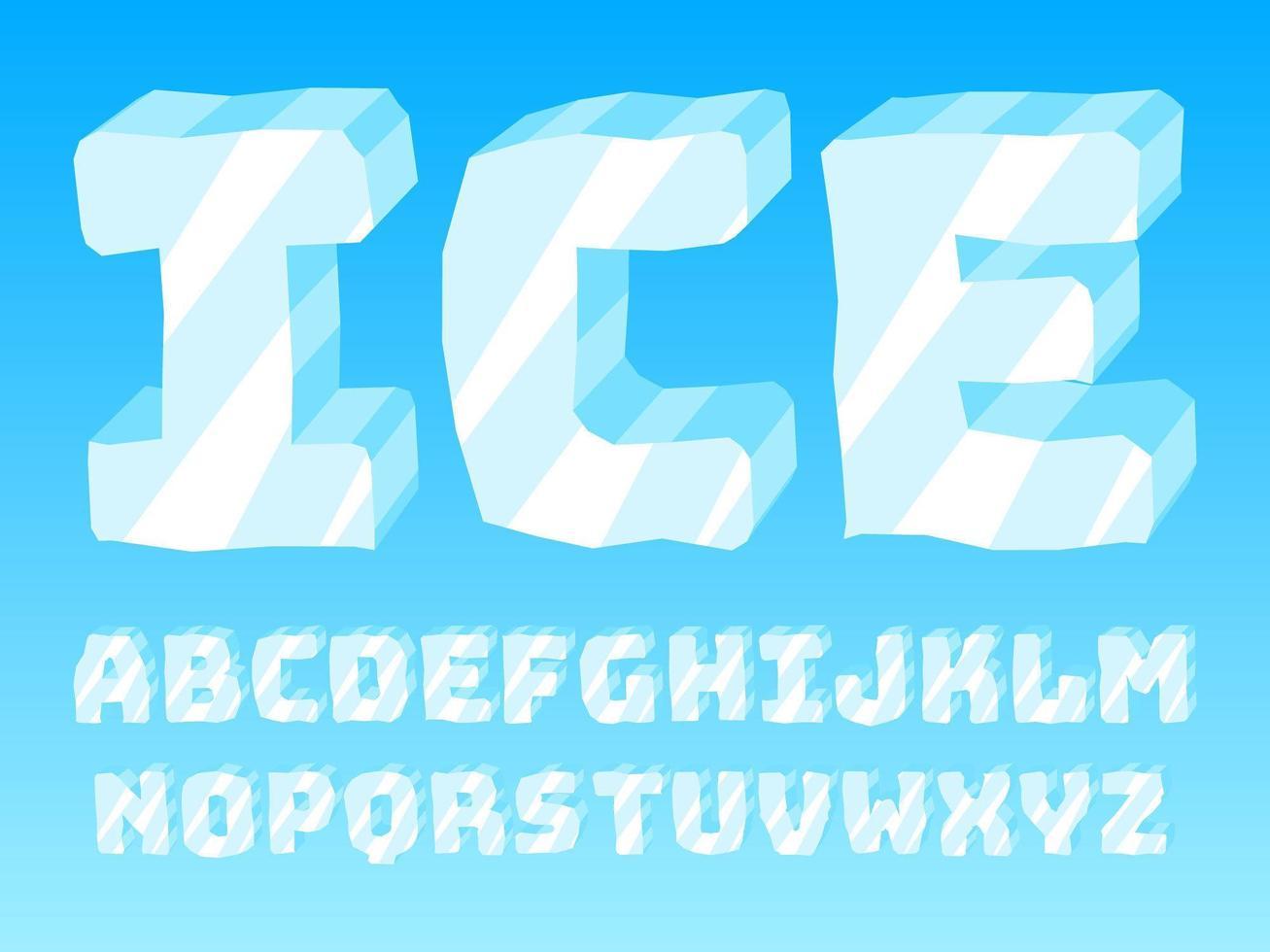 Super vecteurs alphabet glacé