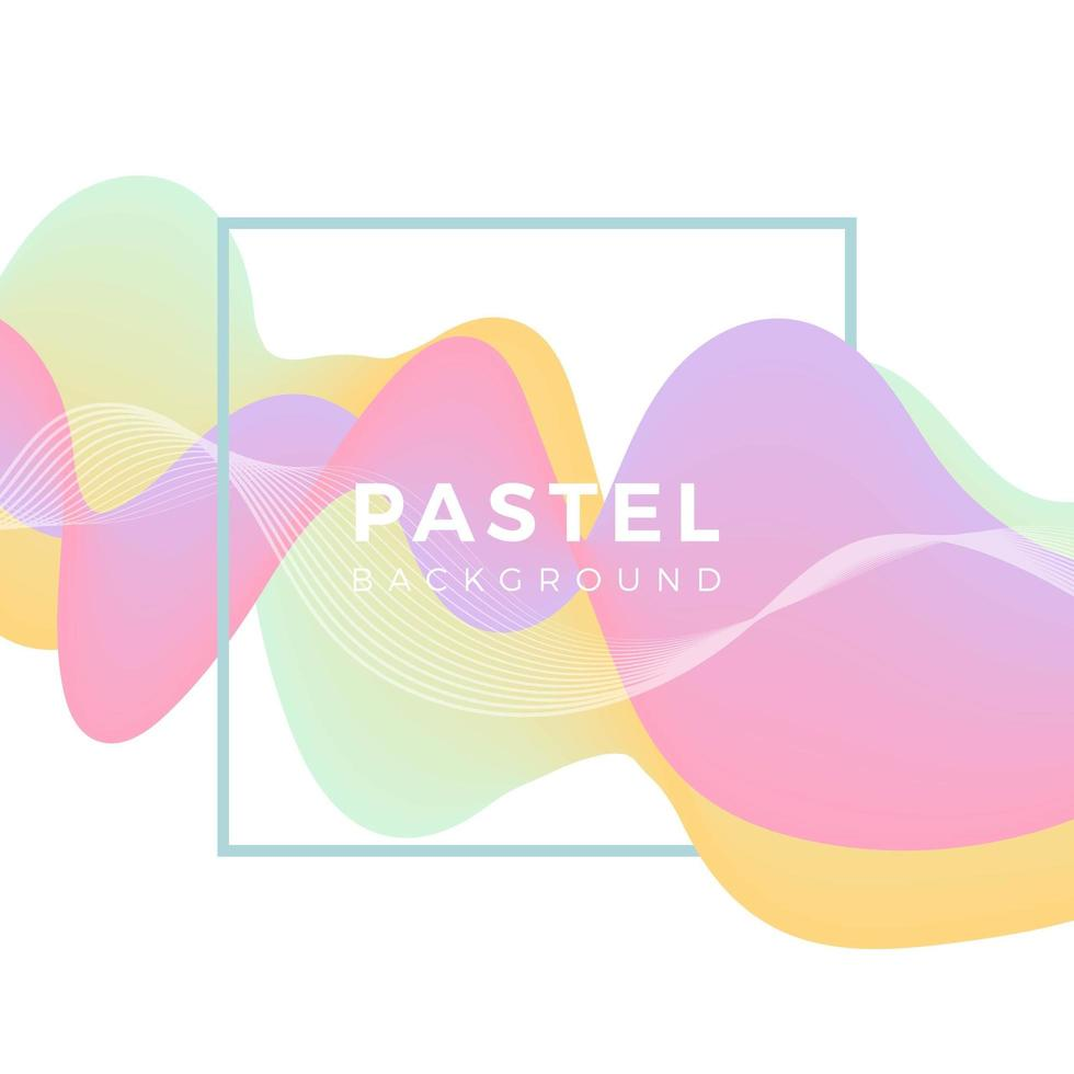 Flat Abstract Wave Pastel Vector Background