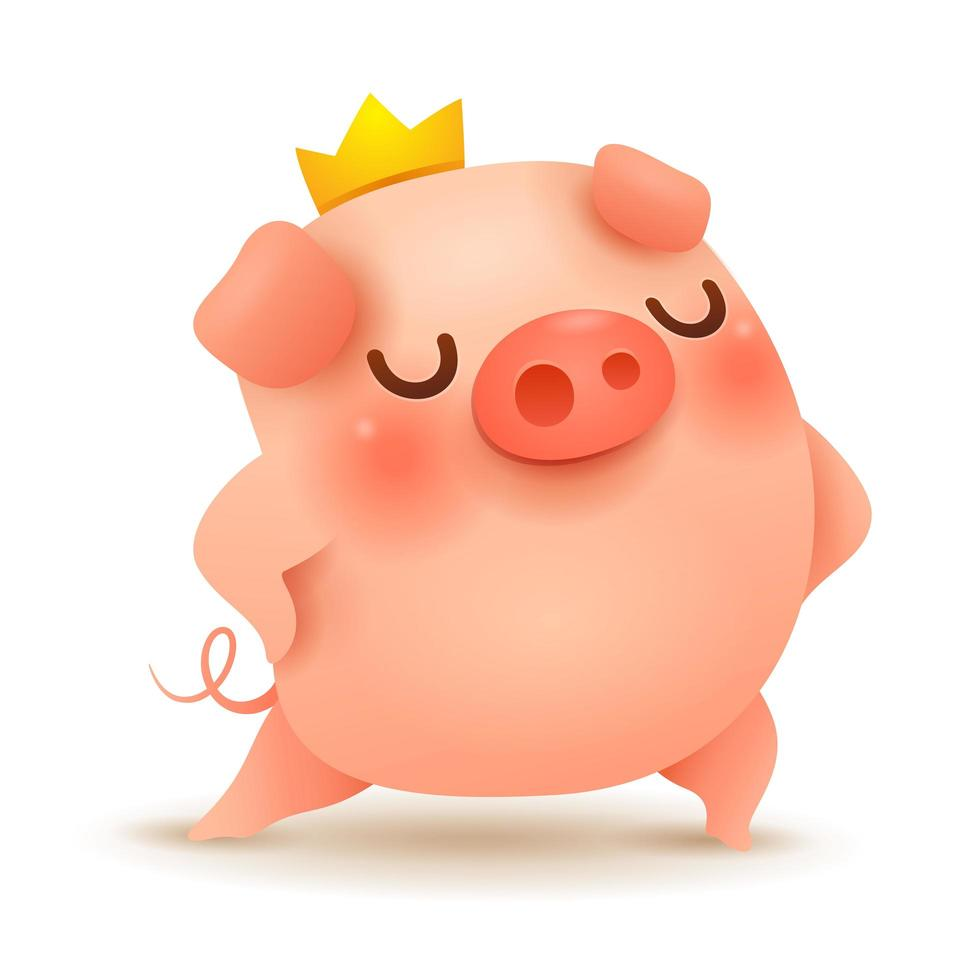 The King Pig vettore