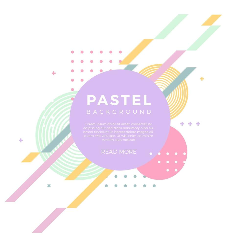 Flat Abstract Pastel Vector Background