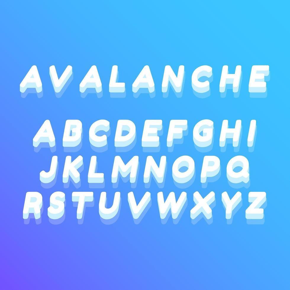 Impresionantes vectores de alfabeto helado
