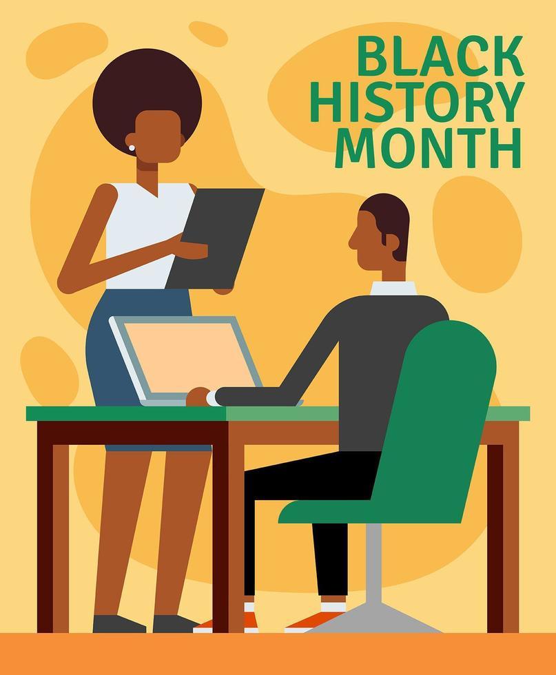 Black History Month Illustration vecteur
